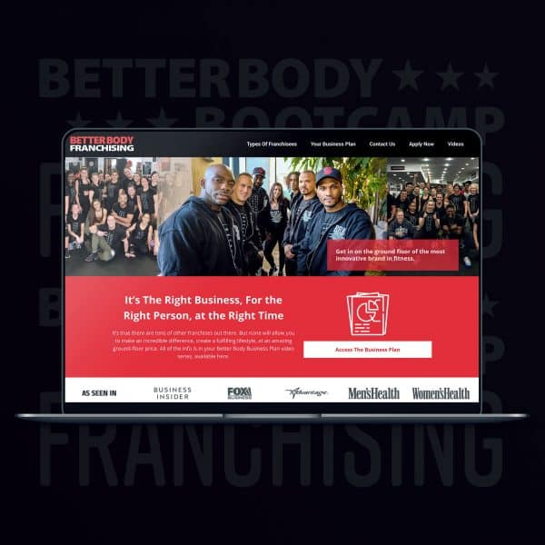 BetterBodyFranchising.com website design by JessMadeIt