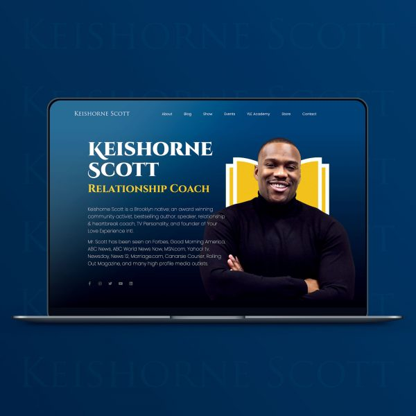 KeishorneScott.com website design by JessMadeIt