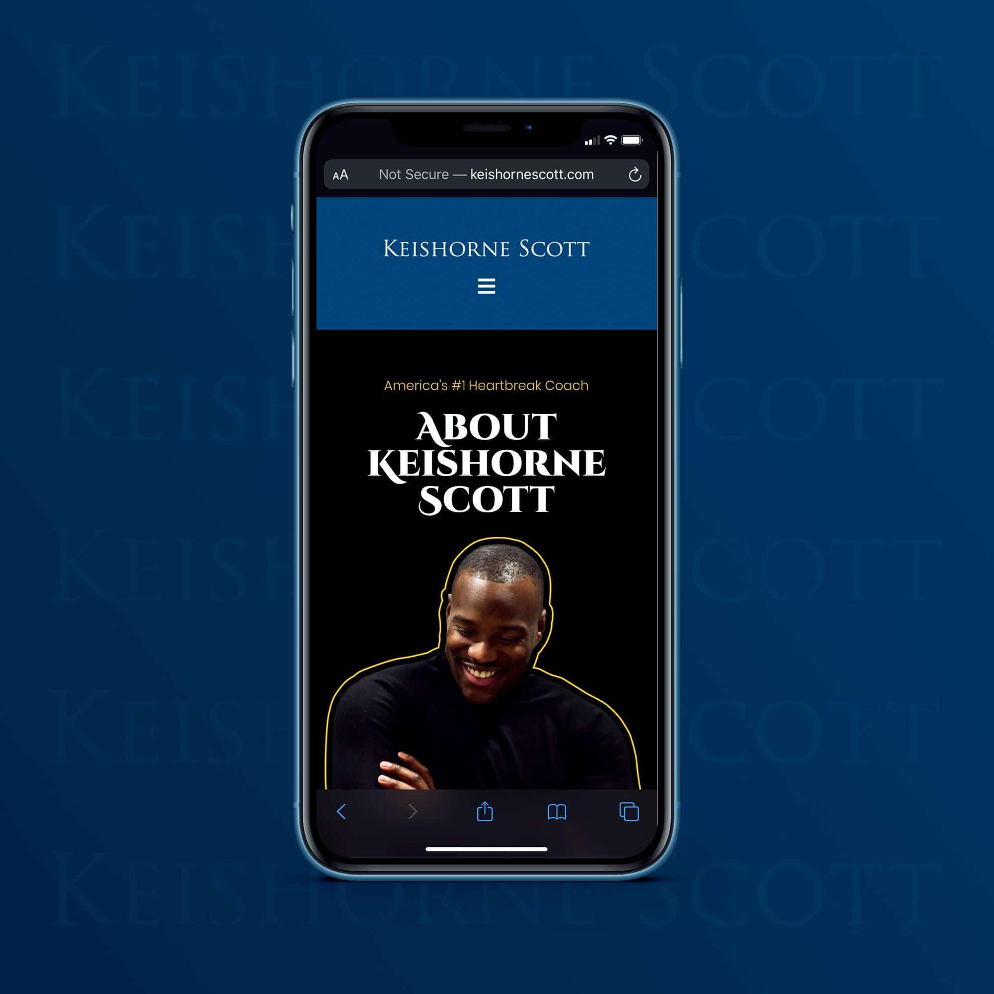 KeishorneScott.com website design by JessMadeIt