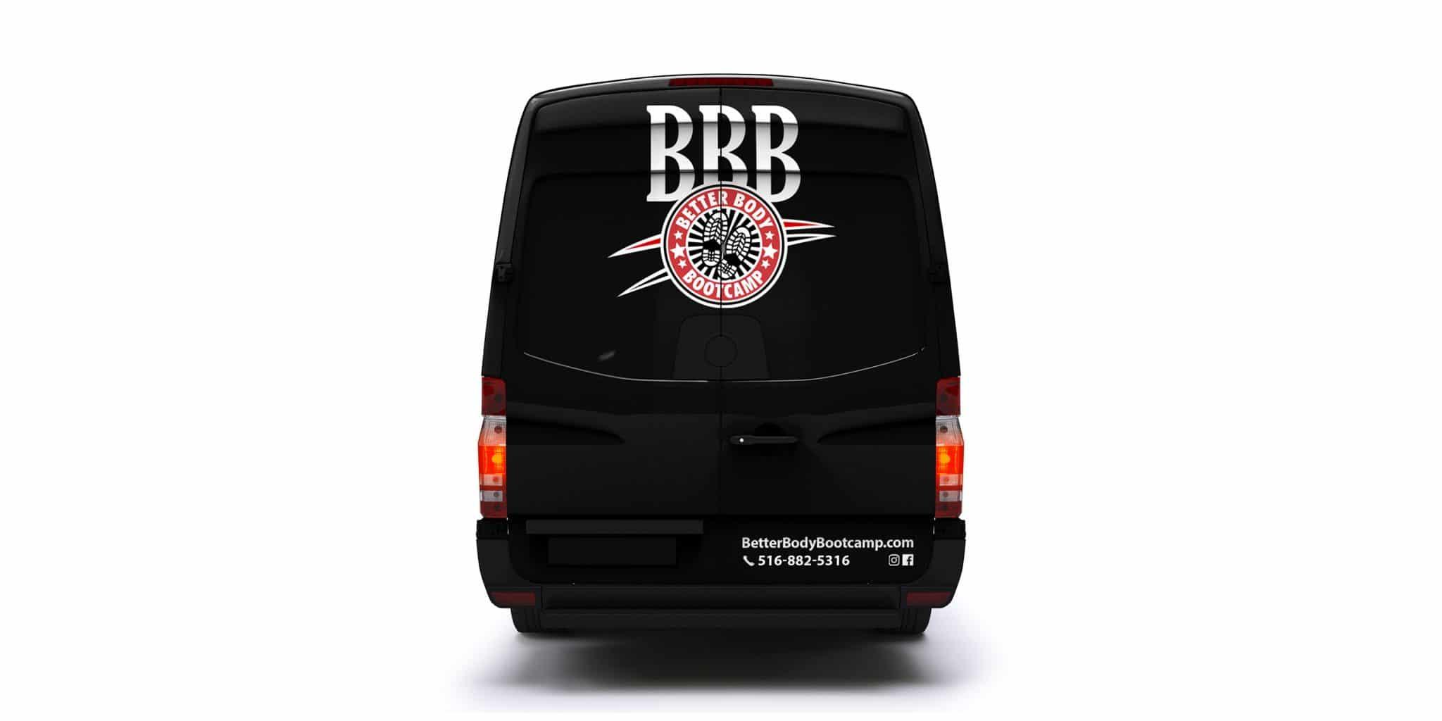 Better Body Bootcamp (Better Body Mobile) Sprinter Van Wrap [Back]